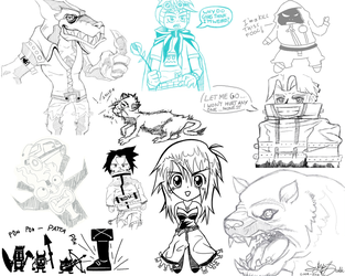Sketchbook Compilation by sythes-of-death