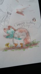 Rowlet Wishes You A.... by GalexArts
