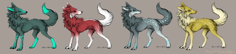 Wolf adoptables - CLOSED by NoctaAdopts