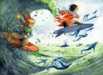 Flying fishes by Alice-Bobbaji