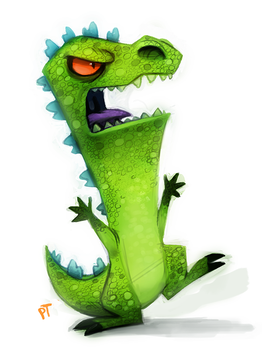 Day 578. Rugrats - Reptar by Cryptid-Creations