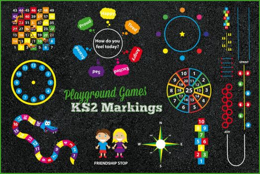 Playground Games Key Stage 2 Markings by PlaygroundMarkings