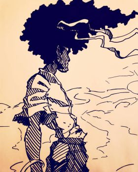 Afro Samurai (SHARPIE) by Smudgeandfrank