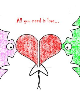 All you need is love by ArtDivilArosed