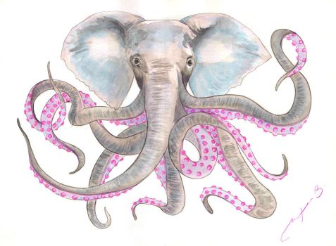 Octophant by TeaForBlues