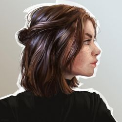Girl portrait by Dzydar