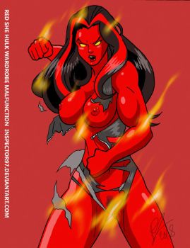 Red She Hulk by Inspector97