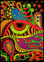 Fluoro painting - 1 by Shurka