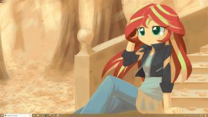 Sunset Shimmer in Autum Preveiw (Wallpaper engine) by HowXu