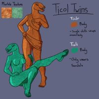 Ticol Twins the Moving Statues by TheUrgeWithin
