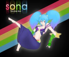 Sona (from League of Legends) by Like-Da-Pants