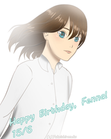 Happy birthday, Fenna!! by Yukaishironeko