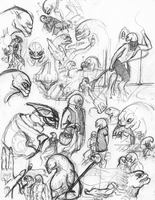 Sangheili Sketches by Nyhtmare