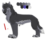 Wolf Auction #1 Adopt: Larkspur1678 by IzzyShea