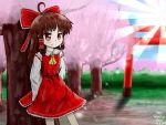 Reimu at the Cherry! by Rami120
