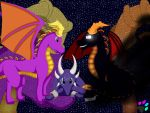 Spyro VS Dark Spyro by AnimaliaSSS