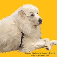 Pic I drew of a dog I see pretty often by yuvush