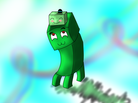 Creeper and BabySlime xD by MelloriaHero