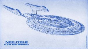 U.S.S. Enterprise E - Blueprint Style by PlaysWithWolves