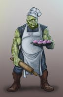 Orc Baker by lordsenneian