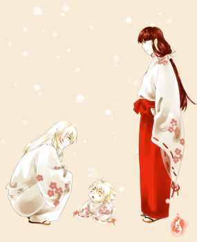Sesshomaru and male Kikyou - Forbidden and Smile by jiegengDai