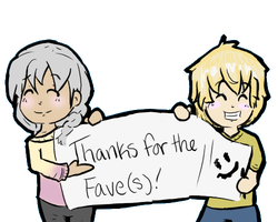 Thanks for the faves! Doodle by ForgottenWinds