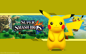 Pikachu Wallpaper - Super Smash Bros. Wii U/3DS by AlexTHF