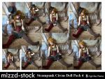 Steampunk Circus Doll Pack 4 by mizzd-stock