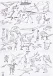 Creature doodles by Ramul