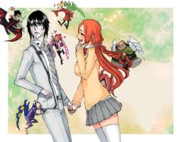 Bleach Orihime Ulquiorra by MayWhite5