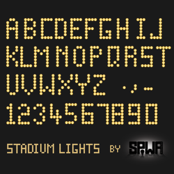 Stadium Lights Font PSD and Ai by Sinner-PWA