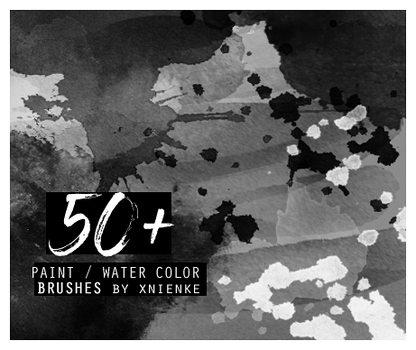 50+ paint / water color brush pack by xnienke