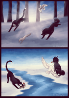 Hunting - Artemis and Vica by StarsySpirit