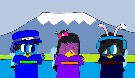 At the mount Fuji by SprixieFan12345