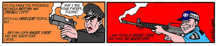 The British and Israeli cops by Latuff2