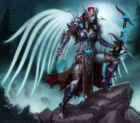 Angel of Undeath Sylvanas design by ZFischerillustrator