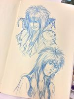 Doodle of the day: Jareth expressions  by Cris-Nicola