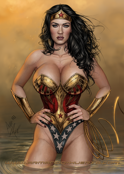 Wonder Woman Coloring Contest by adam-brown