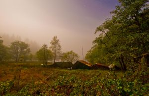 Boathouses in the dead of night by BusterBrownBB