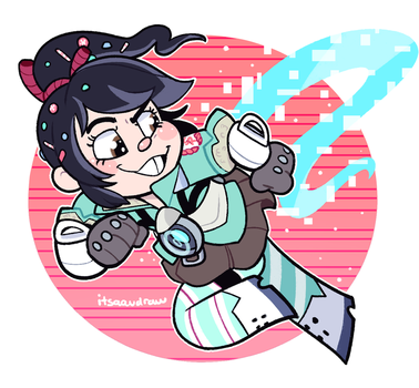 Tracer Vanellope by itsaaudraw