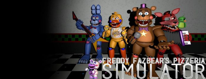 FreddyFazbear's Pizza Simulator Desktop Background by nightmarefoxypirate0