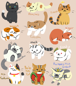 Neko Atsume by Fire-Girl872