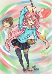 [Fanart] Chiye Tries Painting! by hellfire153