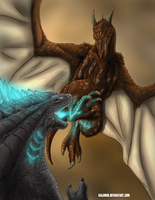 Legendary Rodan vs The King Of The Monsters by KaijuKid