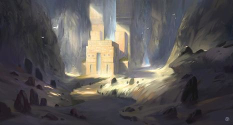Mountain Temple by Nele-Diel