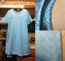 Blue Muumuu Dress by pinkythepink