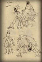 Sketchbook page - monsters by HaluzCZ