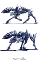 Flamer Drone Sketches by Paganee