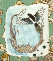 Corvids deco I - Magpie by Haawan