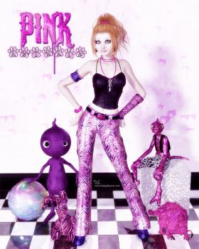 Pink Animalz- for ParrotDolphin by DesignsByEve